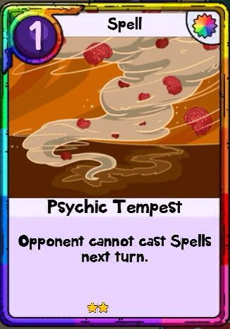 Adventure Time Card Wars - Psychic Tempest Spell Card Adventure - time card
