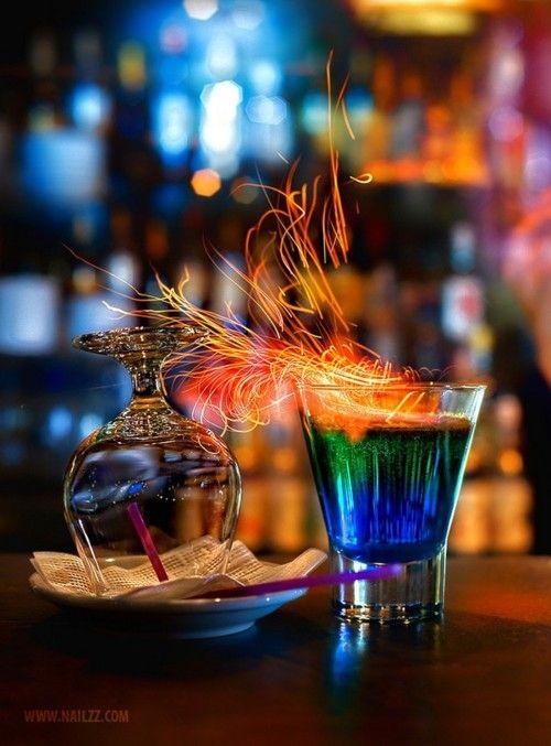flaming brandy
