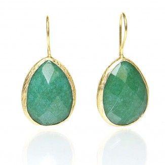 green jade drop earrings | Marlees