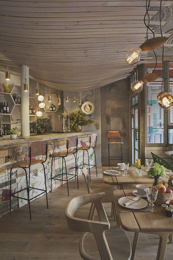 Recup et design pour le restaurant Mama Campo