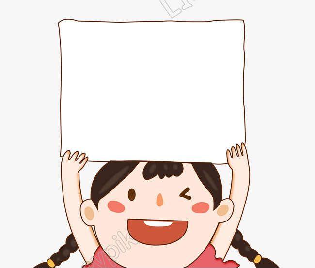 ส น าร ก Handpainted การ ต นขายง ายอ คอมเม ร ซเด กหญ งต วเล ก ๆ ถ อป ายโปรโมช นป าย ไฟล Png และ Psd Simple Cartoon Cartoon Hand Painted