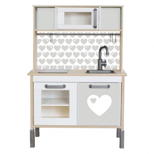 klebefolie bygraziela herz fuer ikea kinderkueche hack farbe grau 01 zuk nftige projekte. Black Bedroom Furniture Sets. Home Design Ideas