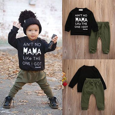 4a7c50ac0 2pcs Newborn Toddler Infant Kids Baby Boy Clothes T-shirt Tops+Pants ...
