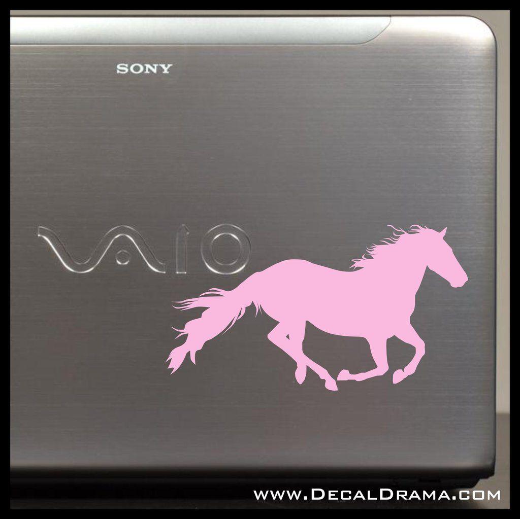 Cantering Horse Vinyl CarLaptop Decal Laptop Decal Custom - Custom vinyl laptop decals
