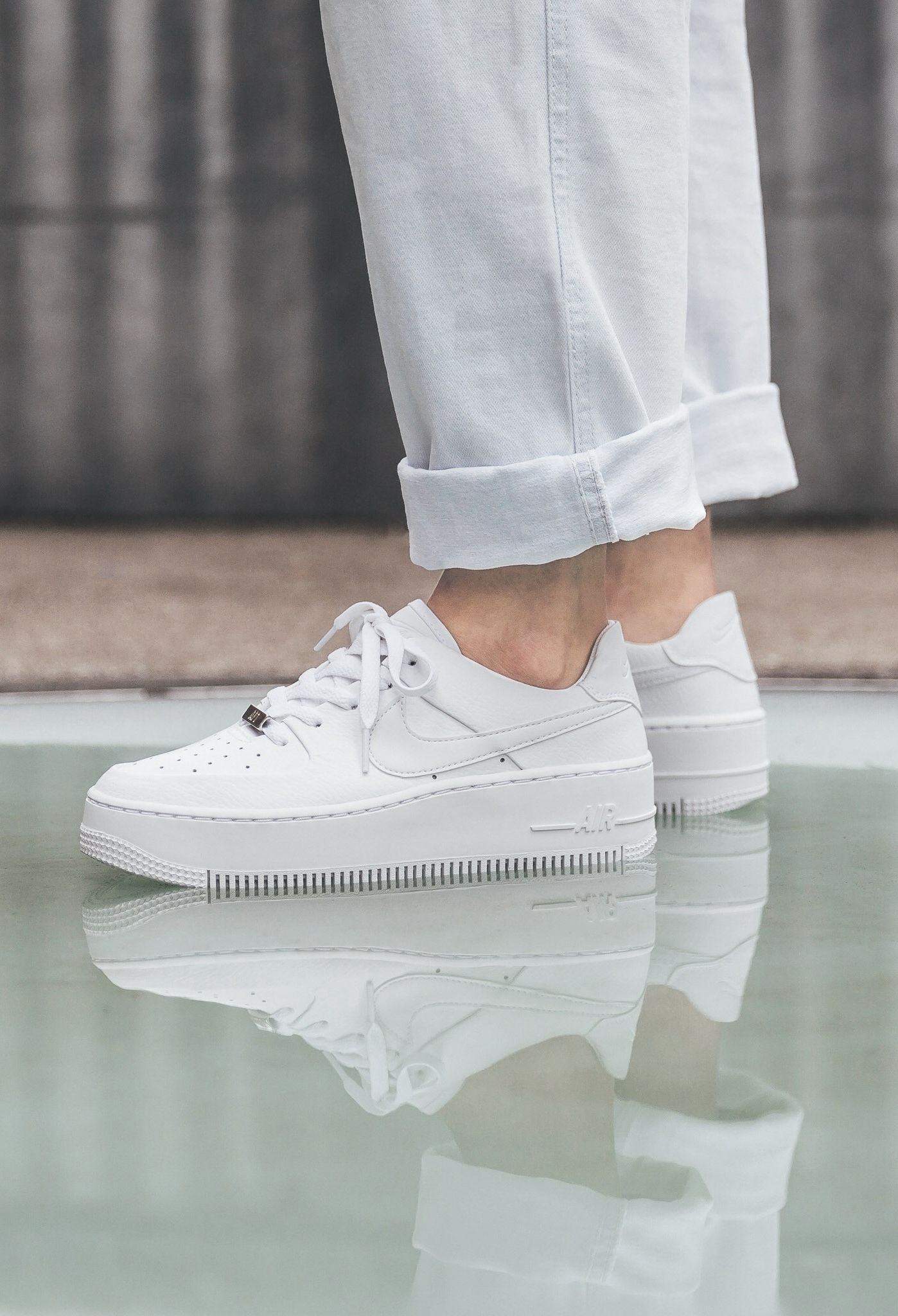 Nike Air Force1   Hype shoes, White