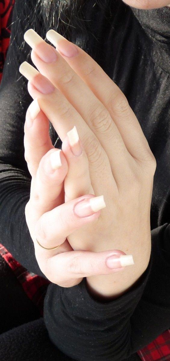 Long natural nails | Long Nails: Sakura beautiful natural nails - 2 ...