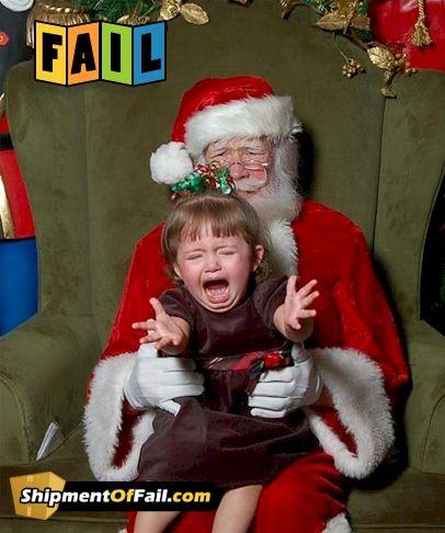 Santa Claus Fail Santa Photos Family Christmas Cards Santa
