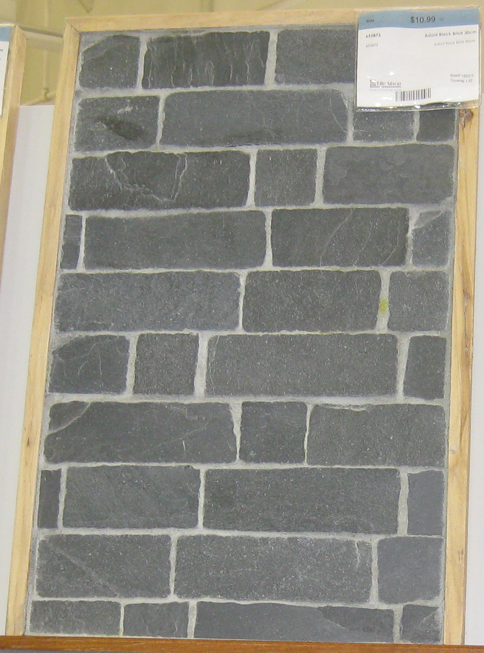 The tile shop adoni black slate brick subway tile fireplaces the tile shop adoni black slate brick subway tile dailygadgetfo Gallery