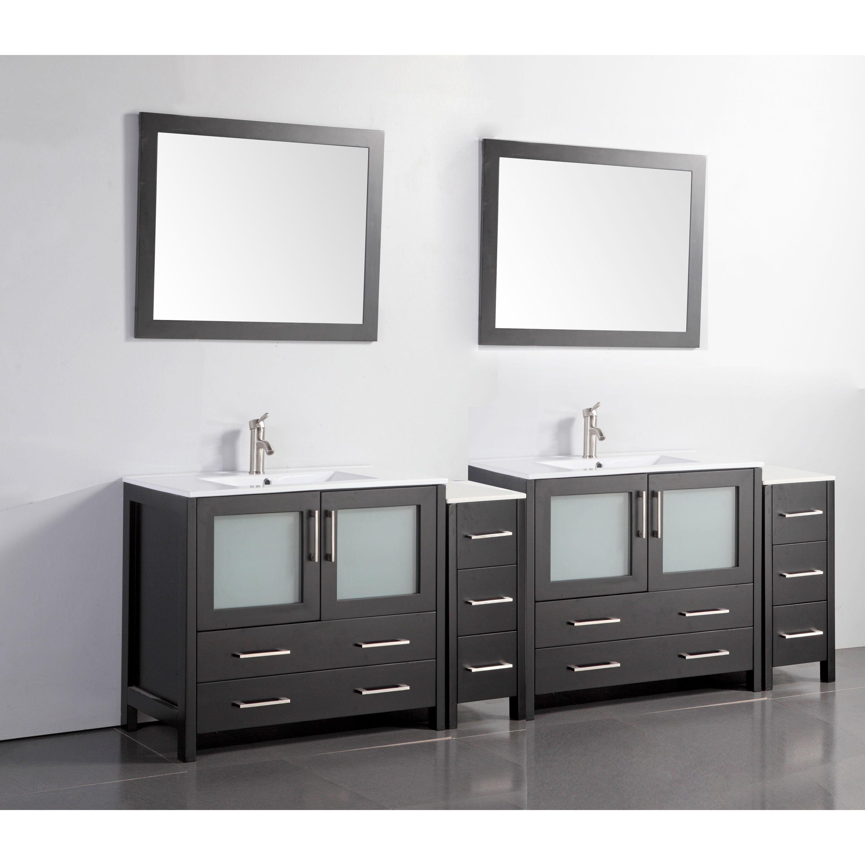 Vanity Art 96 Inch Double Sink Bathroom Vanity Set 10 Drawers 4