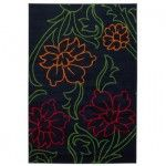256 Chandra Rugs Dersh Floral Black Contemporary Rug Der 22405 Floral Rug Rugs Black Floral