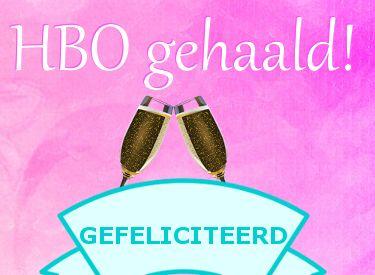 leuke hbo diploma felicitatie plaatjes met tekst: gefeliciteerd! LeukePlaatjesz.nl