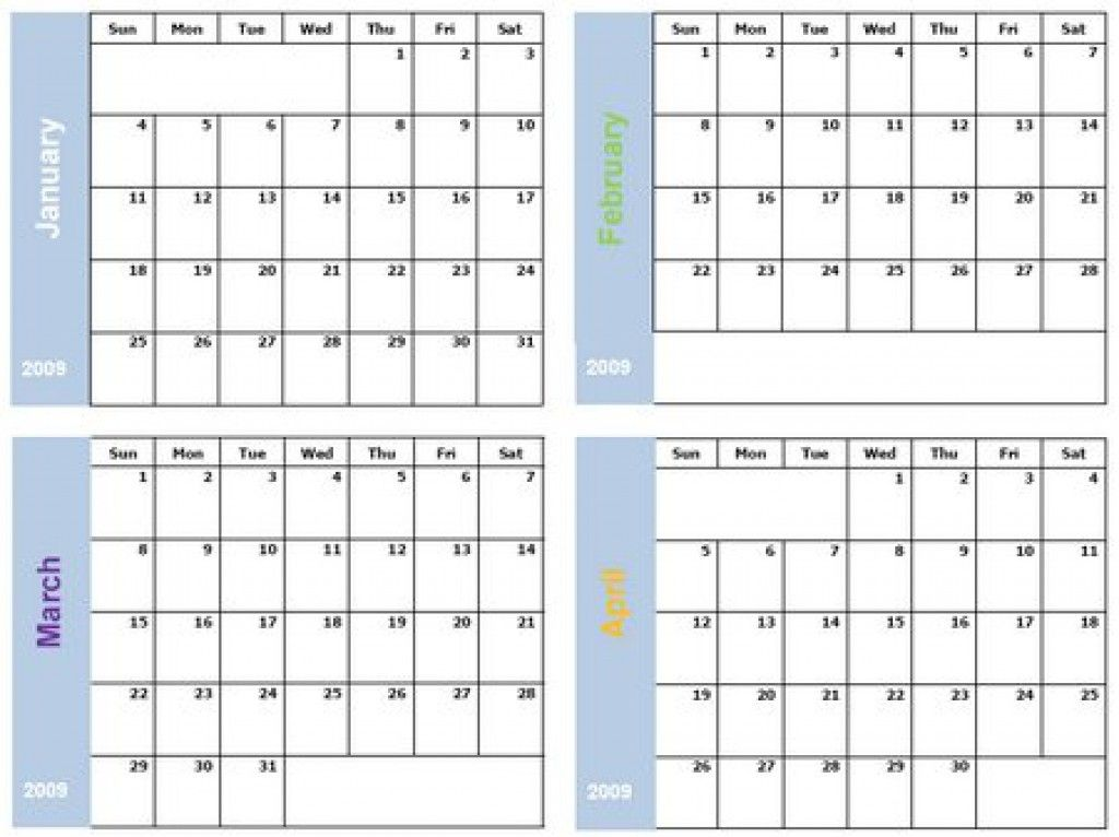 Printable 6 Month Calendar Printable 360 Degree Free Download Printable Calendar 2018 4 Months Calendar Template Free Calendar Template 2018 Calendar Template