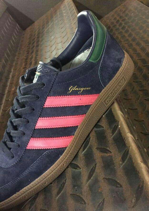 new product 94c5c 3e56a adidas Glasgow with a new gum re-sole