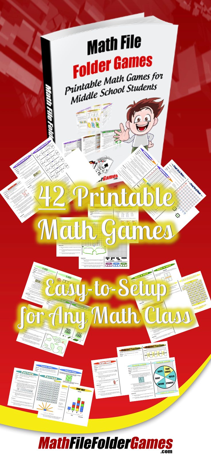 42 Printable Math Games for Middle School & Upper Elementary ...