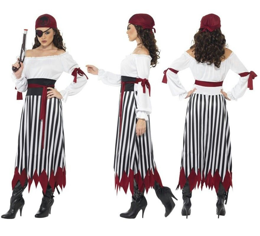 Pirata disfraces en 2019 pirate halloween costumes - Disfraces caseros adultos ...