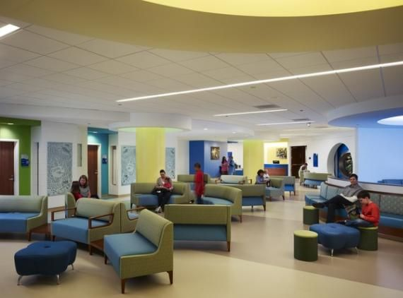 Chicago Lurie Hospital Waiting Room Pediatrics Modern