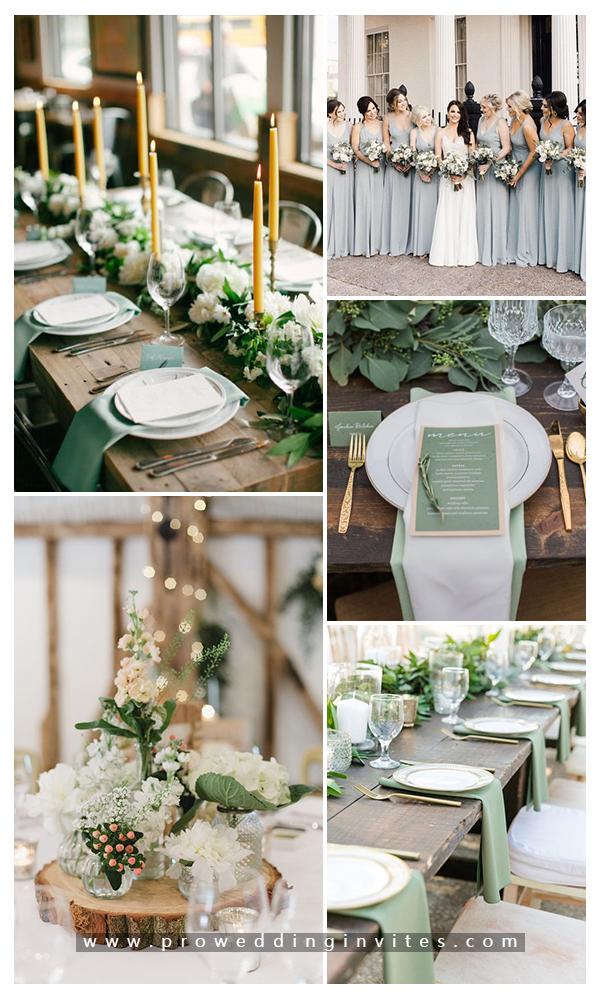 6 Fabulous Rustic Romantic and Elegant Wedding Ideas & Color Combos