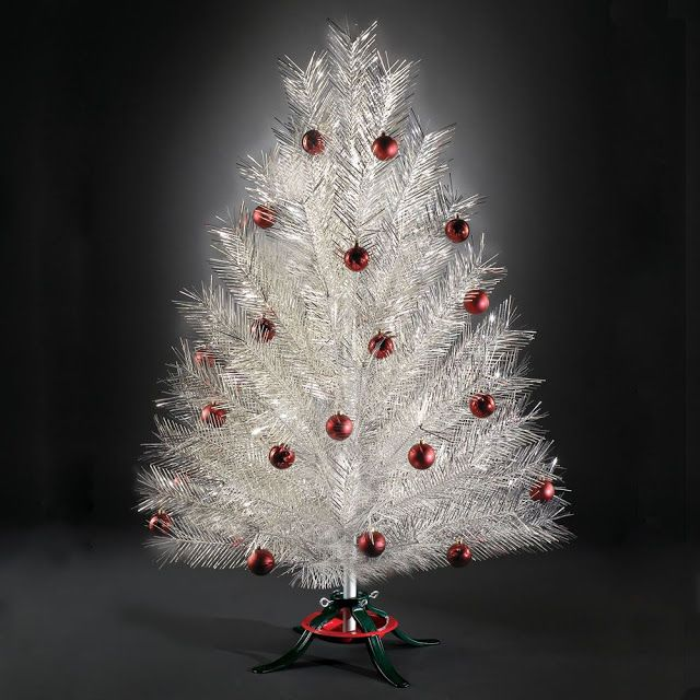 Silver Tinsel Christmas Tree With Color Wheel: 19 ALUMINUM VINTAGE CHRISTMAS TREES PART 2!