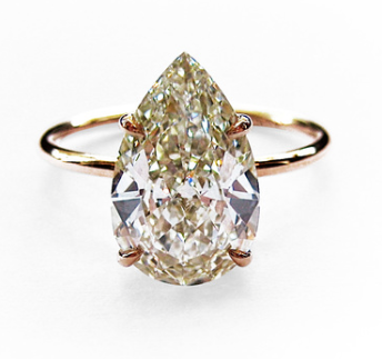 2 50ct Pear Shape Diamond Set In A Very Simple Gold Wire Band Setting Dream