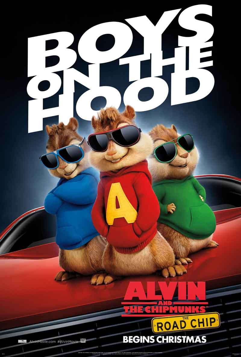 Alvin And The Chipmunks The Road Chip Ardillas Carteles De