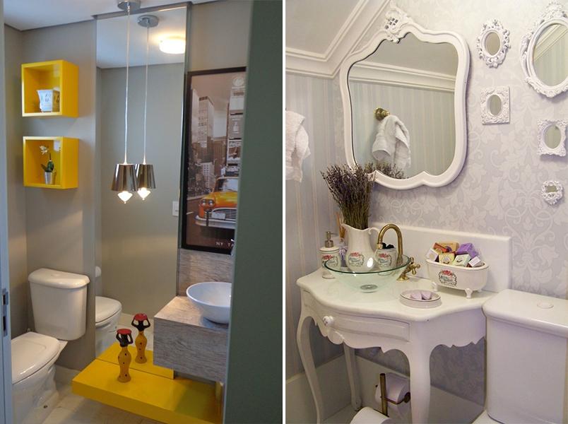 Como decorar lavabos pequenos 15 modelos inspiradores for Ideas para decorar pisos pequenos