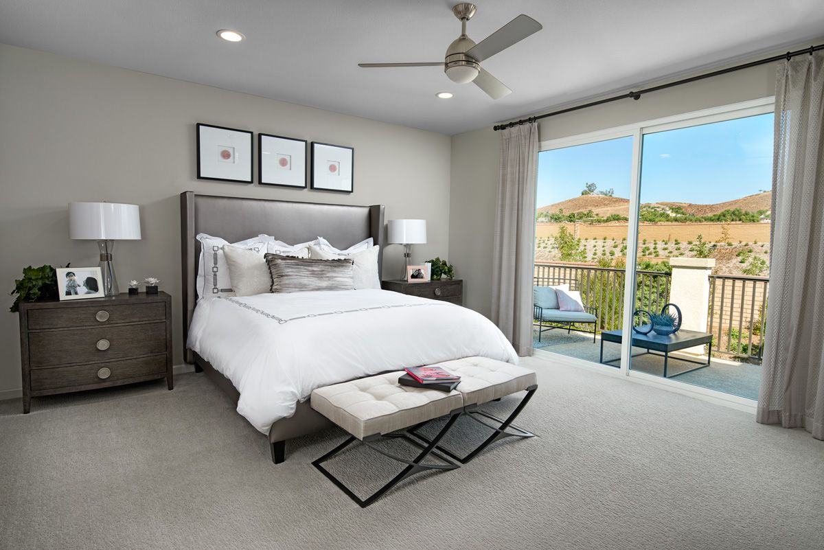 Best Private Balcony Teagan Model Home Master Bedroom 400 x 300