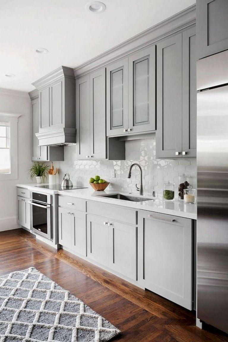 70 Beautiful Farmhouse Kitchen Cabinet Makeover Ideas Farmhousekitchens Kitchencabinetsmake Kitchen Cabinet Design New Kitchen Cabinets Kitchen Remodel Small White grey kitchen ideas