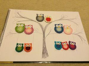 crochet owl family tree | Amigurumi | Owl family, Genealogy, Family