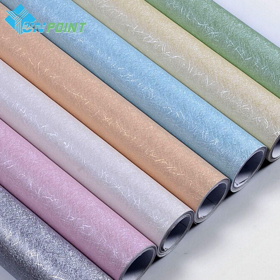 3m 5m 10m Modern Silk Texture Wallpaper Pvc Vinyl Self Adhesive Film Kids Room Bedroom Stickers Muraux Waterproof Wall Stickers Affiliate