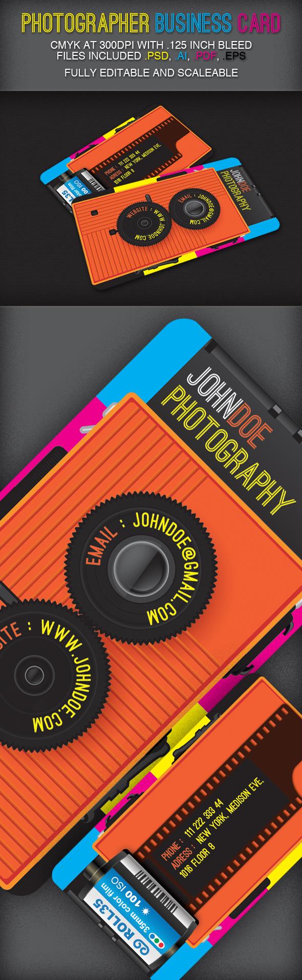 Photographer Business Card Design By 7evenheavens Deviantart Com