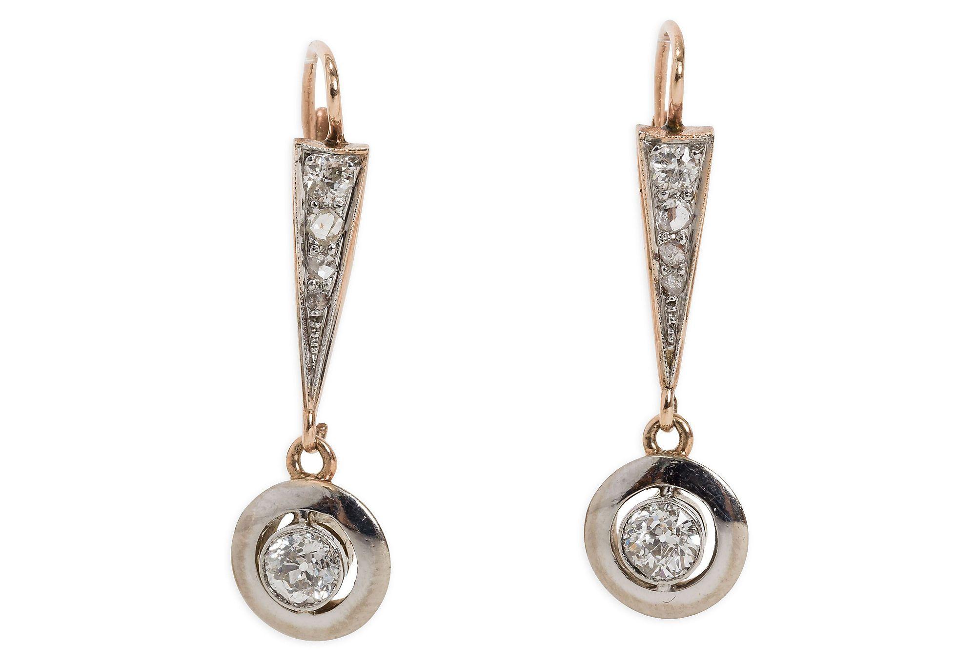 e Kings Lane Craig Evan Small Drop Bezel Set Diamond Earrings