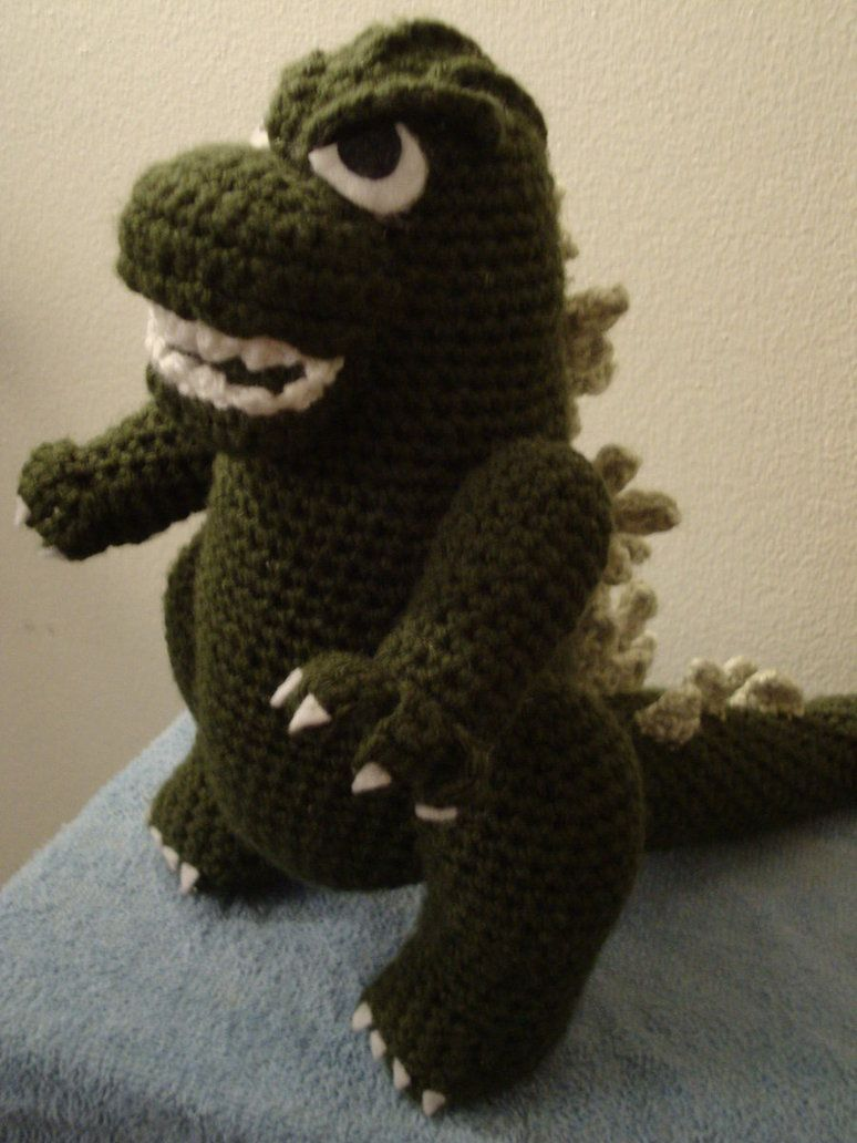Godzilla crochet | Godzilla Crafts | Pinterest | Patrón de ganchillo ...