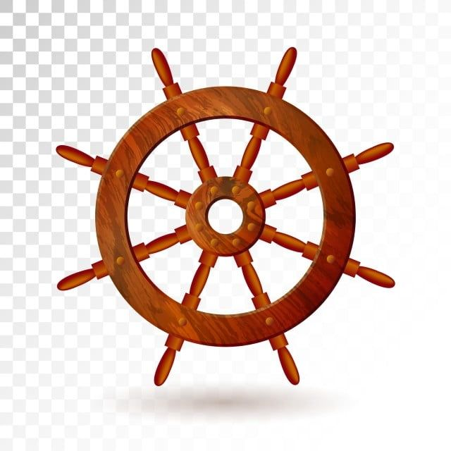 Ship Steering Wheel Isolated On Transparent Background Detailed Vector Illustration For Your Design Icon Illustration Object Png And Vector With Transparent Vector Illustration Illustration Transparent Background