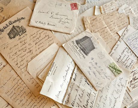 John Derian collected these handwritten letters from various print dealers in New York and Boston.