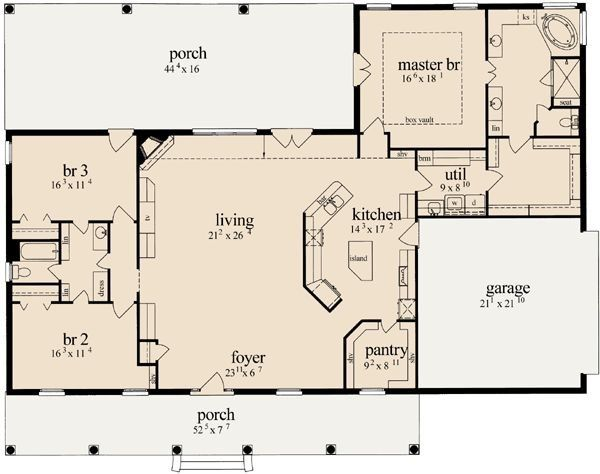 Pin On Home Open concept house blueprints