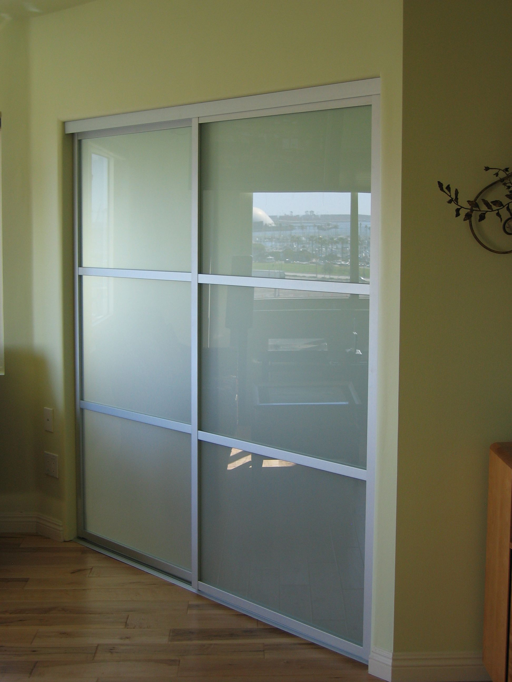Home Office Sliding Glass Room Dividers Inspirational Gallery: Frosted Glass And A Silver Frame Finish Are A Perfect