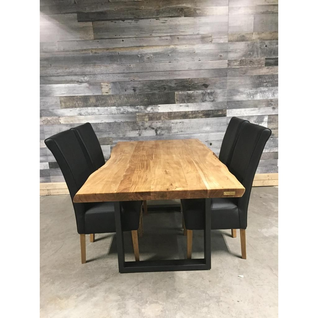 "72"" Yosemite Live Edge Acacia Dining Table With U Legs"
