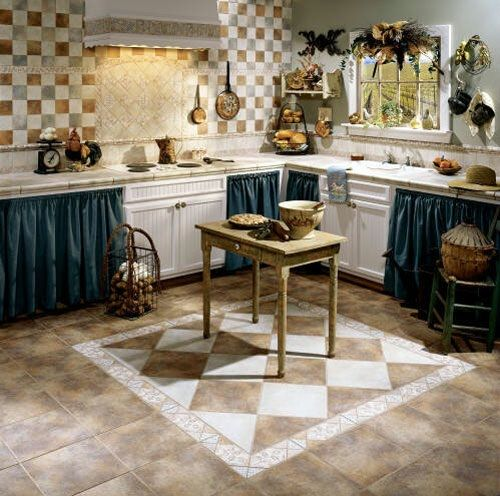 Decorative Kitchen Floor Tile Design