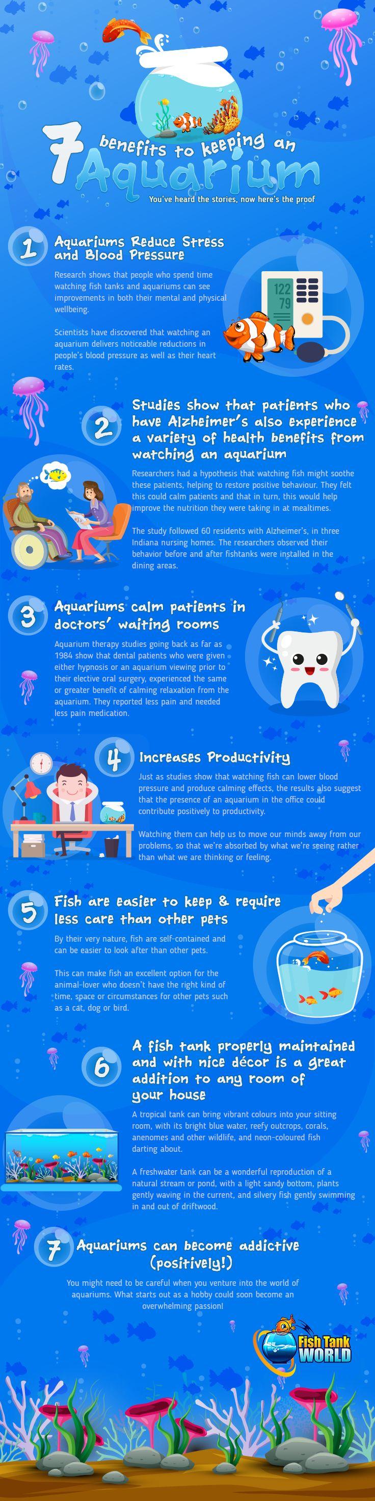 7 benefits to keeping an aquarium