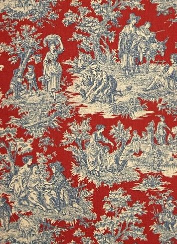 Charmed Life Heritage Waverly Fabric Traditional Toile Print