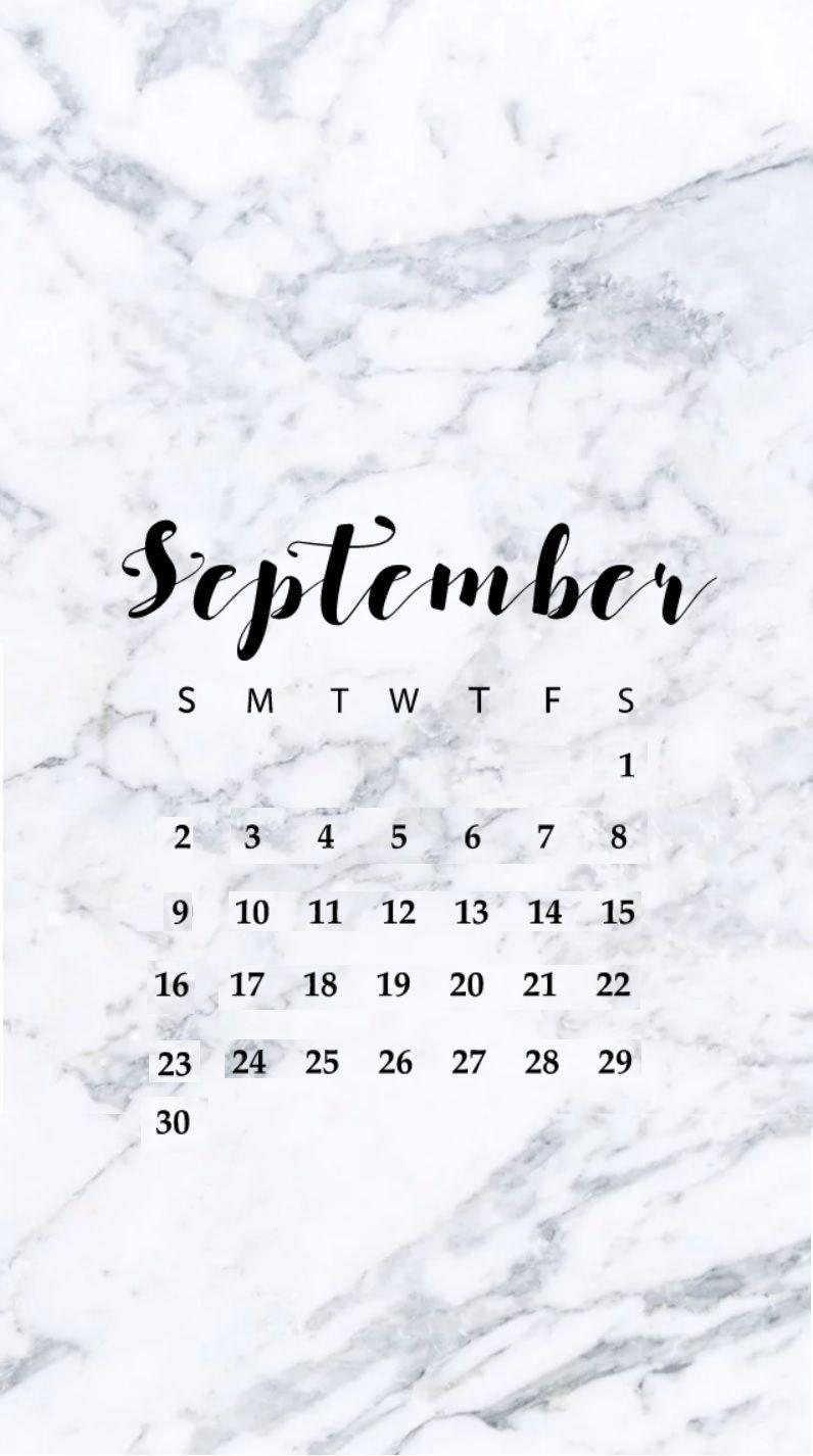 September 2019 Iphone Wallpaper Calendar Metallicheskie Oboi