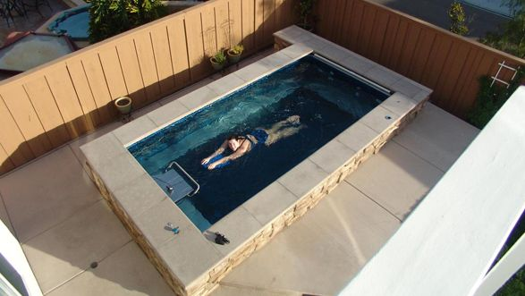 An Endless Pool Can Fit In Virtually Any Space Swim At Home Even In A Small Backyard Www Endlesspools Com Endless Pool Small Pools Swimming Pool Pictures