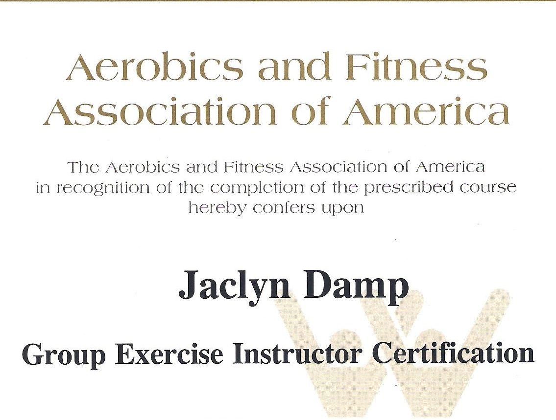 My Afaa Primary Group Fitness Certification Experience Fit Ish