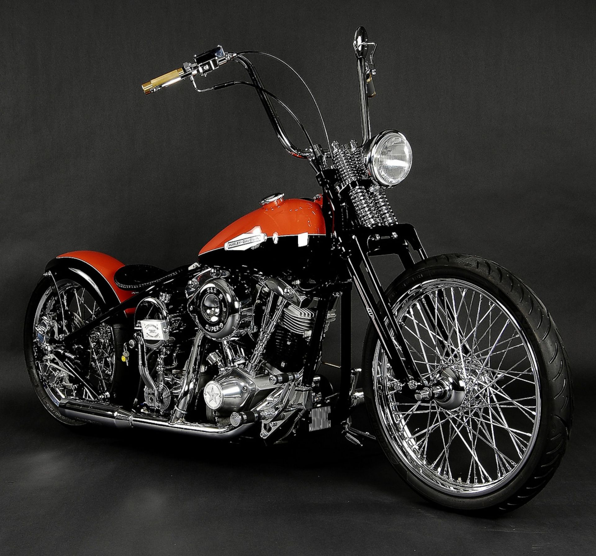 for Two tone harley davidson bike chopper harley davidson ...