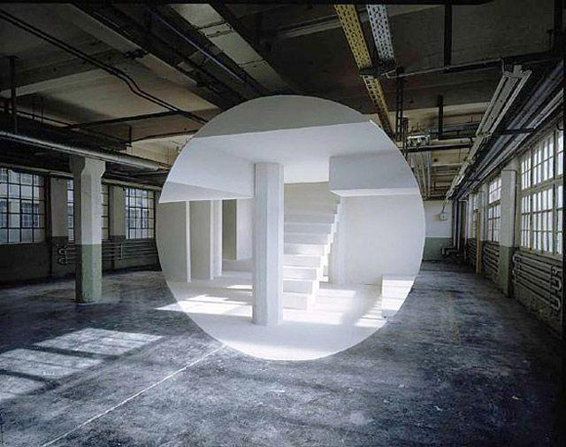 George Rousse photography Pinterest Skulptur und Architektur - moderne skulpturen wohnzimmer