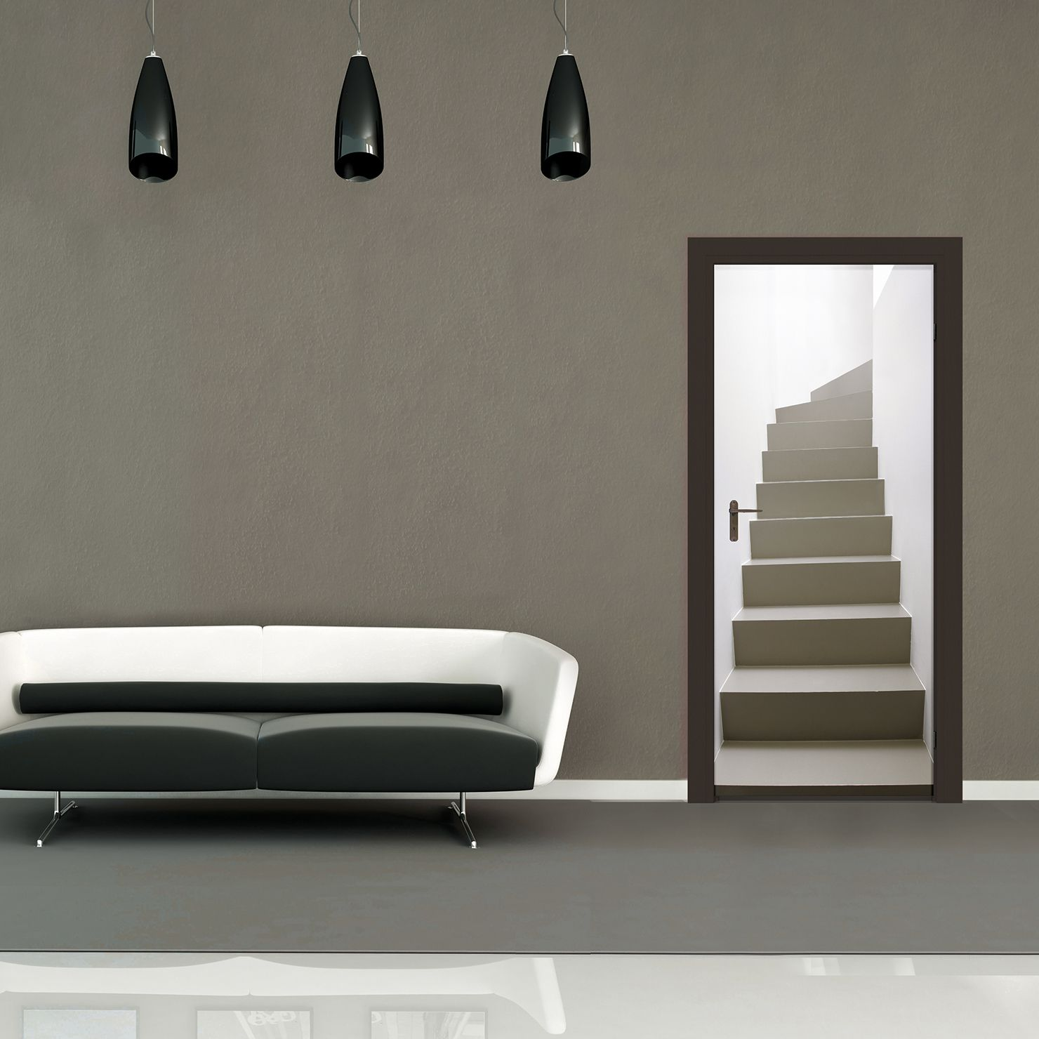 Turning Staircase Door Mural ACHICA