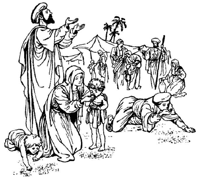 Manna from Heaven Coloring Page Manna from Heaven Sunday
