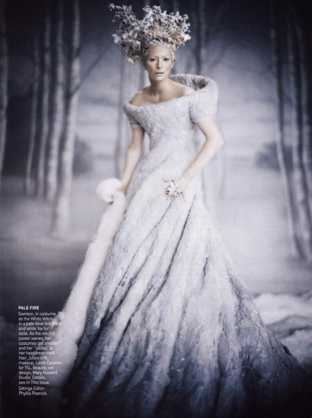 Snow queen style wedding dresses
