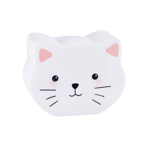 Veilleuse chat H 16 cm