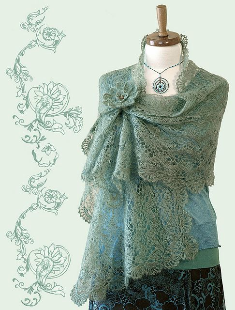 How to wear a lace stole via Ravelry: DANIELLE Lace Shawl pattern by Christiane Klink
